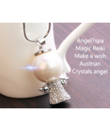 "Magic Reiki  ""Make a wish "" Angel Austrian Crystals Necklace  spellbound  - $22.39"
