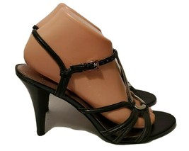 Nine West Expresso Black Silver Strappy Open-Toed Stiletto Heels for Wom... - $16.70