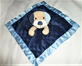 GARANIMALS Dog Puppy Security Blanket Tan blue minky dot satin freckles ... - $23.75