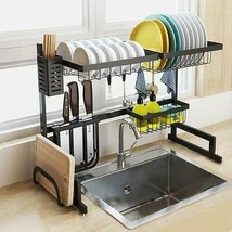 Ship from USA! Over Sink Dish Rack Kitchen Organizer And Storage Accessories Dis image 2