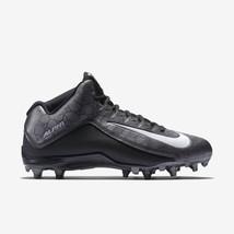 Nike Alpha Strike 2 Football Cleats 725227-010 Metallic Grey Black Men's 16 - $29.95