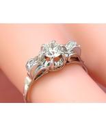 ANTIQUE DECO .53ct EURO DIAMOND PLATINUM ARCHED SHOULDERS ENGAGEMENT RIN... - $1,682.01