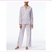 Charter Club Snow Flake Printed Fleece Pajama Set, XXXL - $22.00