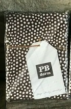 Pair 2 Pottery Barn Dorm Teen Standard Sham Mini Polka Dot Coffee Brown Cases  - $28.49