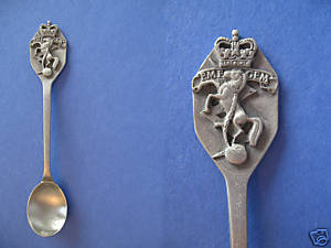 EME GEM MOTTO CANADA Collector Souvenir Spoon PEWTER