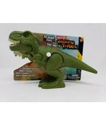 Pre-historic Times Light & Sound Dinosaur - New - Green Walking T-Rex - $14.99