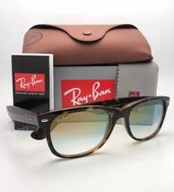 RAY-BAN Sunglasses New Wayfarer Rb 2132 710/Y0 52-18 Havana w/ Clear Fade Gold - $159.95