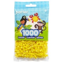 Perler Beads 1,000/Pkg, Yellow - $7.33