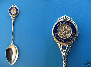 HAWAII ALOHA STATE HAWAIIAN HULA DANCER Souvenir Spoon