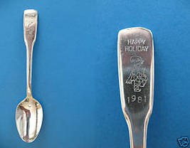 Christmas Happy Holiday Drummer 1981 Souvenir Spoon Is - $6.99