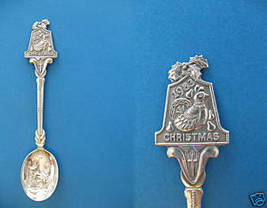 Christmas Dove Mary Joseph 1983 Embossed Souvenir Spoon - $7.99