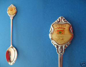 PROVINCE of QUEBEC SHIP Collector Souvenir Spoon