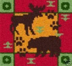 Latch Hook Rug Pattern Chart: Bear & Moose PT - EMAIL2u - $5.50