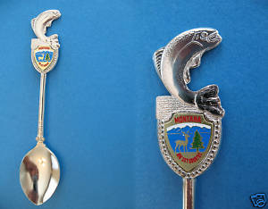 MONTANA BIG SKY COUNTRY FISH FINIAL Souvenir Spoon