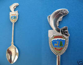 Montana Big Sky Country Fish Finial Souvenir Spoon - $6.99