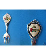 Mini RED ROSE LAS VEGAS NEVADA Souvenir Spoon FORK - $3.99