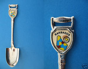 BARBADOS Souvenir Collector Spoon SHOVEL Collectible I DIG