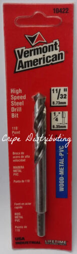 "Primary image for Vermont American 10422 11/32"" x 4"" High Speed Steel Drill Bit USA"