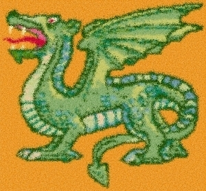 Latch Hook Rug Pattern Chart: DRAGON - EMAIL2u