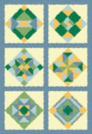 Latch Hook Rug Pattern Chart: QUILT SQUARES - EMAIL2u