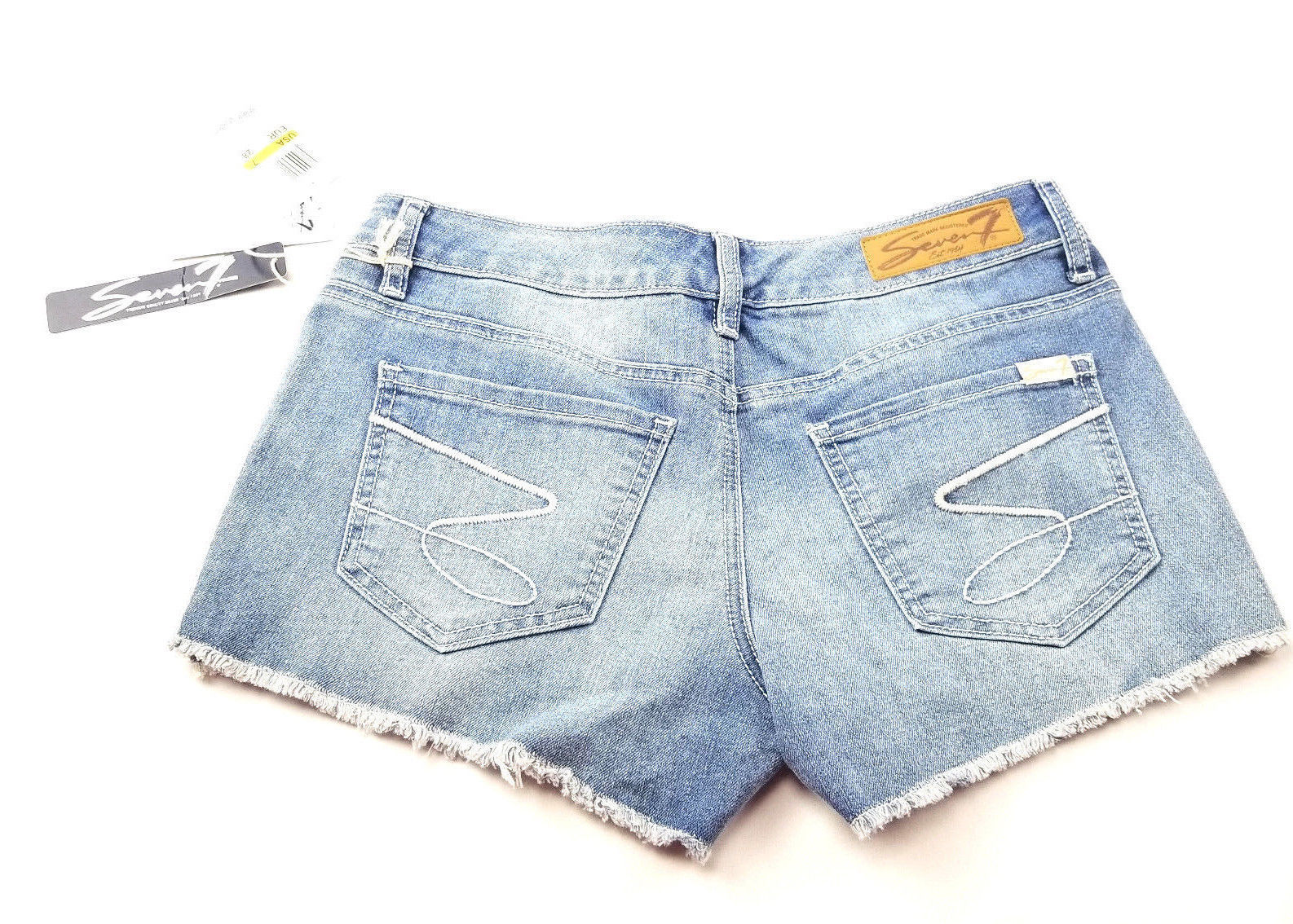 Seven7 Womens Jeans Shorts Size 7 Lace Detail NEW image 2