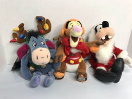 Vintage Disney Store Christmas mini Bean Bag toys w/ tags - Lot 3 Disney... - $17.77
