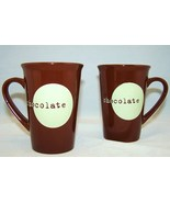 Shonfeld's Tall Chocolate Mugs pair - $10.97