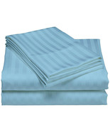 Hotel Collection 400 Thread Count Light Blue Sateen Cotton King Sheet Set - $54.45