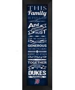"""Duquesne University """"Dukes"""" 24 x 8 Family Cheer Framed Print - $39.95"""