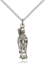 Sterling Silver St. Patrick Pendant 1 x 1/4 inch with 18 inch Chain - $50.93