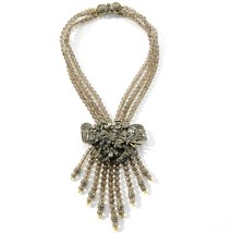 "Heidi Daus ""Dramatic Decollete"" Floral Station Tassel Drop Necklace - $170.45"