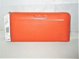 Michael Kors Mercer Pebbled Leather Zip-Around Continental Wallet $158 O... - £71.63 GBP