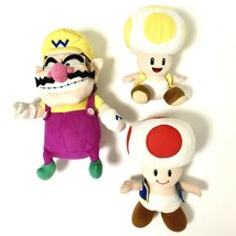 Wario And Toad Mushrooms Plush 2000's Super Mario Stuffed Animals Ninten... - $42.08