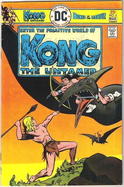 Kong The Untamed Comic Book #5 DC Comics 1976 FINE