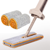 Double Sided Cloth 2pcs Mop Cleaning Replacement Soft Lazy Head Dust Rep... - $9.99