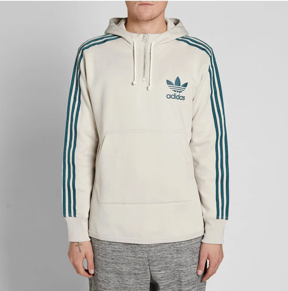 4d6be926bcb6 New Adidas Originals 2018 AC Terry Pullover Hoodie In color Beige Jacket  BK7193