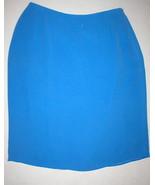 Womens Jones New York Silk Suit Skirt Office Church Work 12 Blue Nice Lined - $75.00