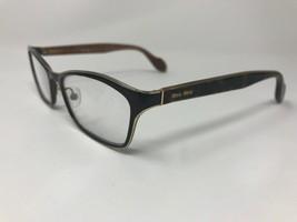 MIU MIU Eyeglasses Frame Italy VMU55L NAF-1O1 53-17-140 Dark Havana/Gold  GB11 - $57.00