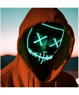 Halloween Mask Festival Christmas Masquerade Cosplay Party Glow In Dark ... - $7.66+