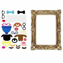 Large Picture Frame + 24pcs Photo Props Booth Props Wedding Christmas Pa... - $9.20
