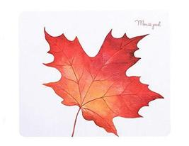 Fashion Creative Home Office Mouse Pad, White Bottom And Red Leaf - €13,68 EUR