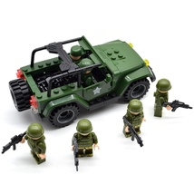 Military Vehicle SUV Car Soldiers Special Forces Field Troops Blocks fit... - $30.90