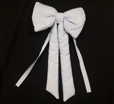 Blue White Striped Bow Plush Nursery Decor Baby Shower Infant Dress Up P... - $14.80