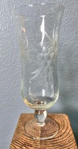 "Set of 4 Stemmed Wine Glasses with Hand Engraved Grapes 6.5"" - $45.40"