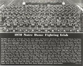 1970 Notre Dame Team 8X10 Photo Fighting Irish Picture Ncaa Football - $3.95