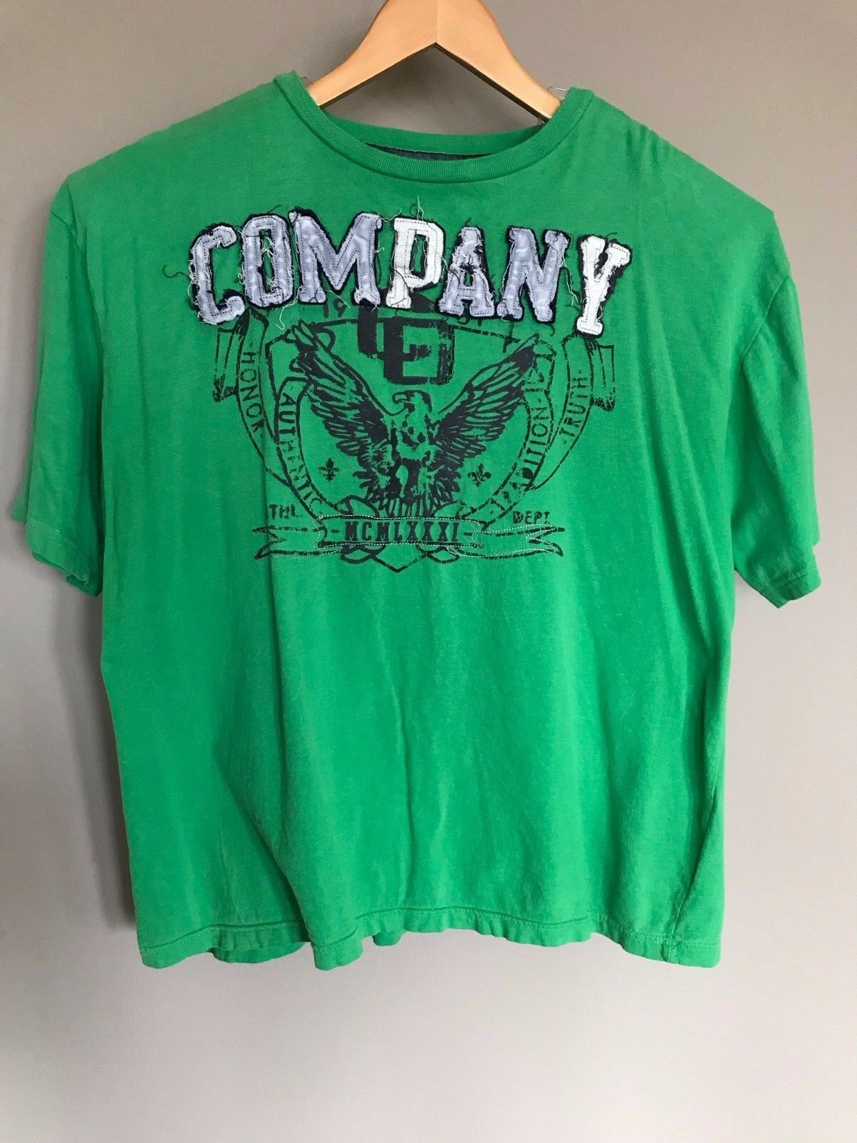 Primary image for Mens Green Graphic  T-Shirt  2XLT  by COMPANY 81  S/S V-Neck 100% Cotton