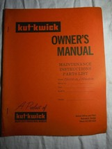 Kut-Kwick KD-1000-31 1600-31 lawn tractor manual orig owner's parts manual *rare - $16.41