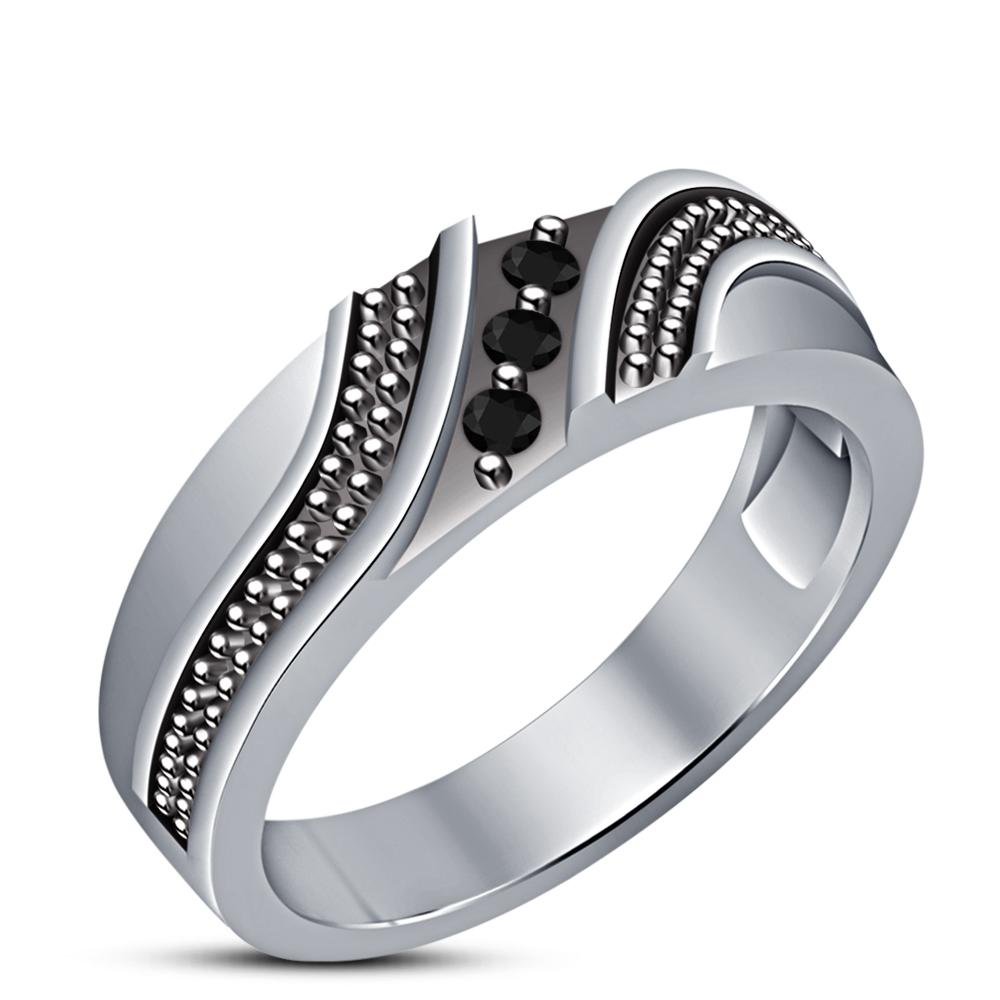14K White Gold Finish Diamond His & Her Wedding Sets Bridal Trio Engagement Ring