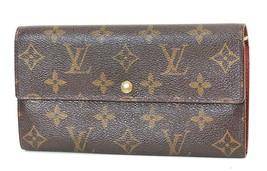 Authentic LOUIS VUITTON Sarah Long Wallet Monogram Zippered Coin Purse #... - $199.00