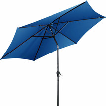 9 ft Patio Outdoor Umbrella with Crank-Blue - $52.36